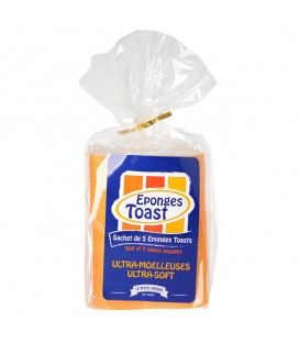 Paquet de 5 éponges Toast