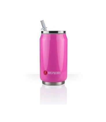 Canette 280mL isotherme rose brillant Rasperry