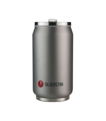 Canette 280mL isotherme argent Silverstar
