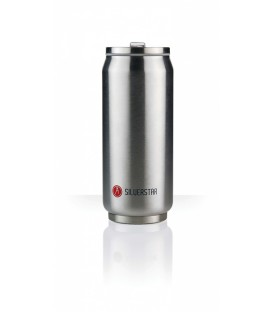 Canette 500mL isotherme argent brillant Silverstar