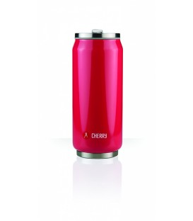 Canette 500mL isotherme rouge brillant Cherry