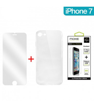 Pack full protect 1 housse + 1 verre trempé iPhone 7