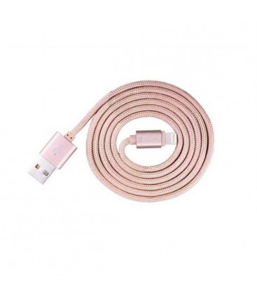 Câble decharge fashion 2M rose pour iPhone 5/5S/5C/6/6S/6+/7/7+