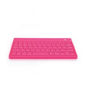Clavier connecté Bluetooth en silicone rose