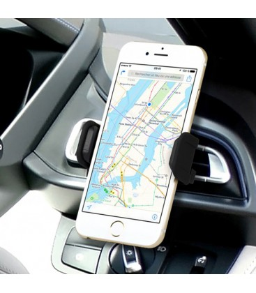 Pack 2 en 1 support universel voiture + chargeur pour iPhone