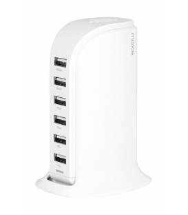 Station de chargement 6 USB, smart tower white