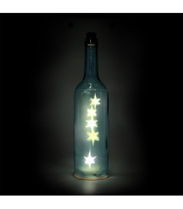 Bouteille lumineuse, bleue