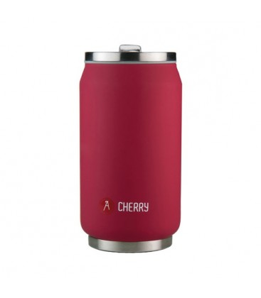 Canette 280mL isotherme rouge brillant Cherry