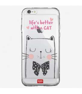 "Coque iPhone 6 ""life's better with a CAT"""