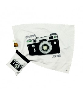 """Nettoie-lunettes appareil photo """"Collect Moments Not Things"""""""