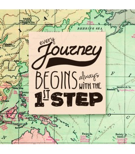 "Nettoie-lunettes map ""Every journey begins always with the 1st step"""