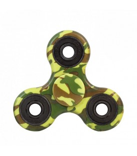 Hand Spinner anti-stress, aspect camouflage vert