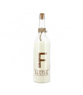 "Bouteille lumineuse, lettre F ""Festive"""