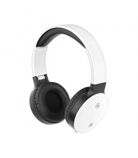 Casque compatible Bluetooth, blanc