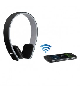 Casque compatible Bluetooth, noir