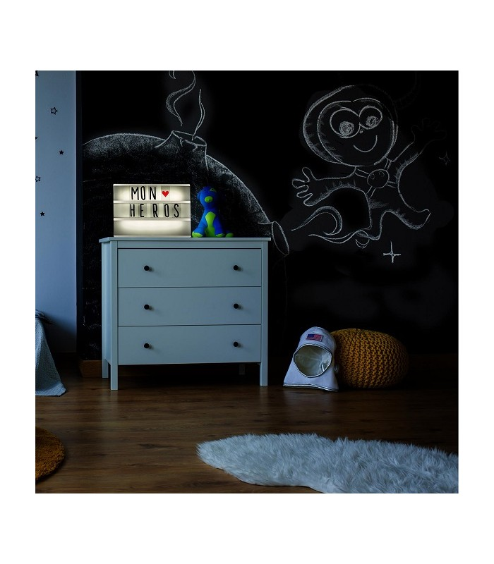 bo te lumineuse message format a4 85 caract res gris. Black Bedroom Furniture Sets. Home Design Ideas