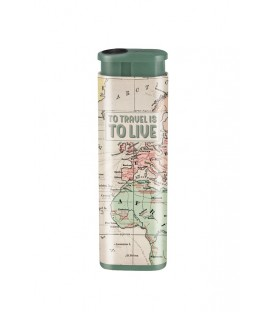 "Briquet anti vent ""To travel is to live"""