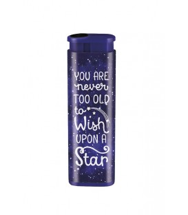 "Briquet anti vent ""You are never too old to wish upon a star"""