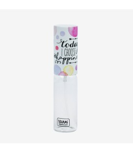 "Vaporisateur de parfum 10ml rechargeable ""Today I choose Hapiness"""
