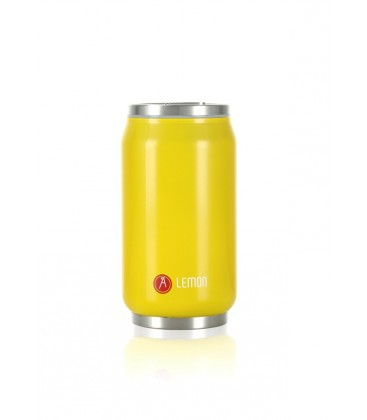 "Pull Can'it Canette 280ml isotherme Jaune Brillant ""Lemon"""