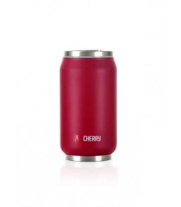 """Pull Can'it Canette 280ml isotherme Rouge Mat""""Cherry"""""""