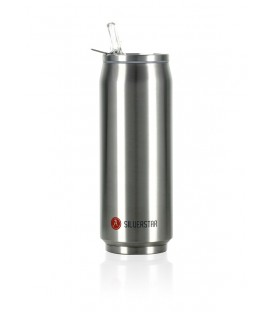 "Pull Can'it Canette 500ml isotherme Argent Brillant ""Silverstar"""