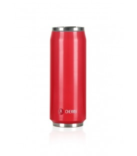 "Pull Can'it Canette 500ml isotherme Rouge Brillant ""Cherry"""