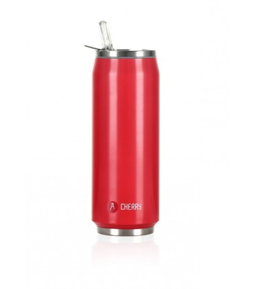 """Pull Can'it Canette 500ml isotherme Rouge Brillant """"Cherry"""""""