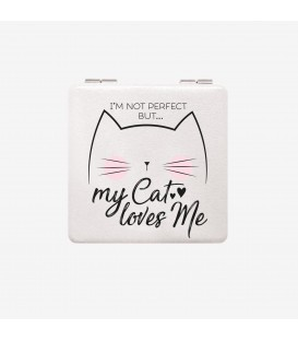 "Miroir de poche ""My Cat Love Me"""
