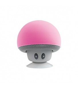 Mini haut-parleur Bluetooth rose look champignon