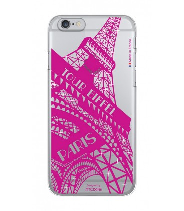 Coque crystal tour eiffel pink iPhone 6/6S