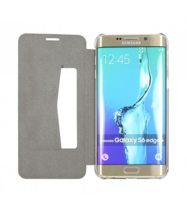 Etui ultra fin folio cover noir Samsung Galaxy S6 Edge+
