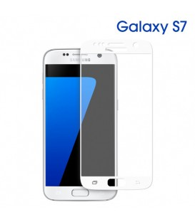 Glass 3D HD full cover blanche Galaxy S7
