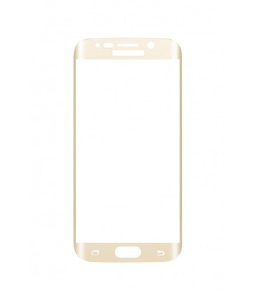 Protection verre trempé 2.5D incurvé gold Galaxy S6 Edge+